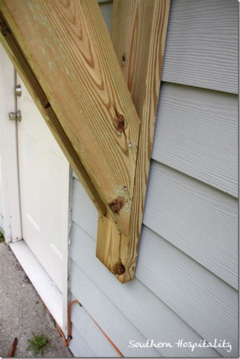 Window Awning Brackets House Renovations Week 10 Building A Door Roof Or How