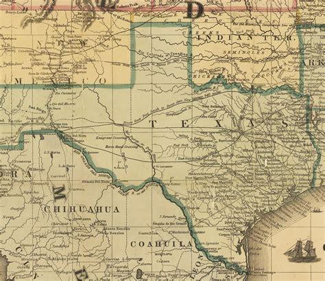 1800 texas map maps civil war