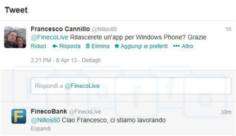 fineco mobile banking fineco bank in arrivo l app ufficiale per windows phone