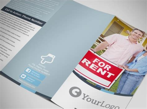 reliable property management tri fold brochure template