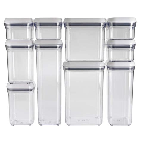 Clear Plastic Kitchen Canisters three 10 piece oxo pop up container giveaway weelicious