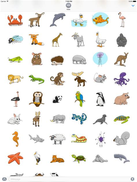 printable stickers of animals stickertoons zoo animal stickers for imessage by