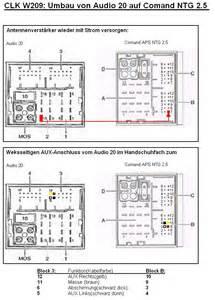 audio20 auf comand ntg 2 5 aux umpinnen antennenverstaerker tipps umbau auf comand aps ntg 2 5