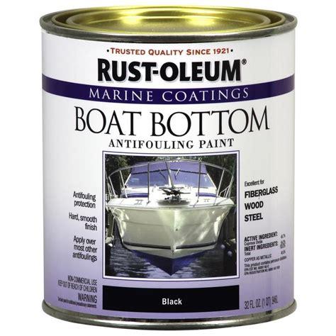 boat paint at lowes shop rust oleum marine coatings black flat antifouling