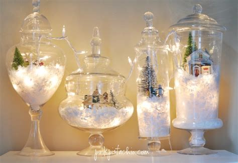 glass decorations for home vintage christmas table decorations la boutique vintage