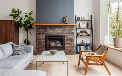 how to decorate empty space next to fireplace leaning bookshelf design possibilities casual with a