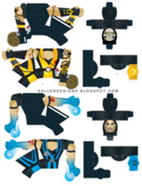 Mortal Kombat Papercraft - subzero vs scorpion