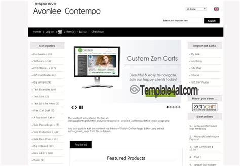 free responsive zen cart templates dover responsive zen cart template free