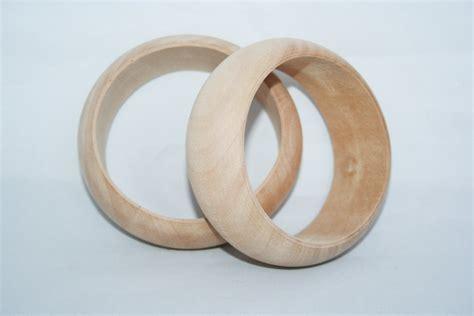 unfinished wood bangle chunky bracelet wedding favors
