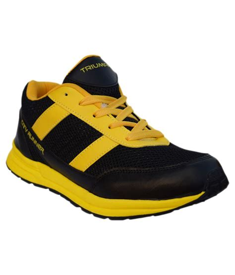 city sports shoes triumph city runner black yellow sports shoes price in