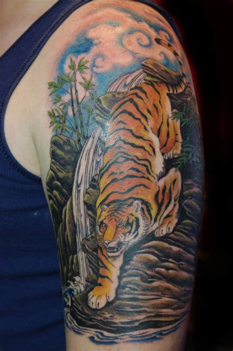 tiger sleeve tattoo designs 53 japanese tiger tattoos and ideas