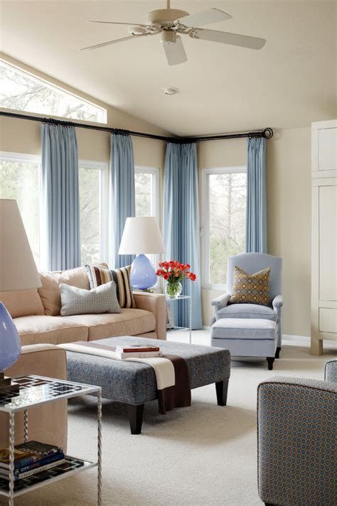 Living Room Curtain Color Ideas Ideas Interior Styles And Design Blue Rooms A Calming Color Scheme