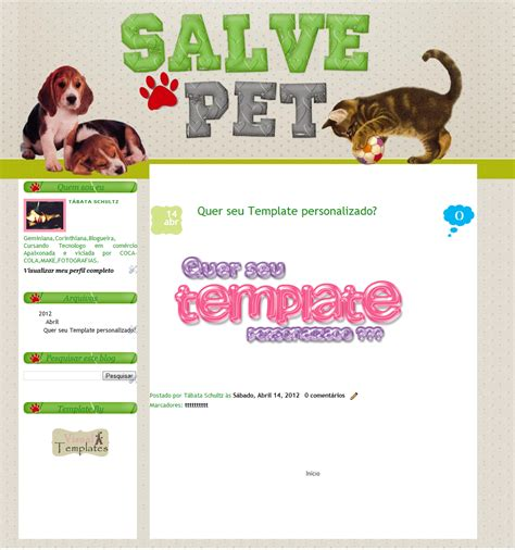 arts da tata template personalizado doa o tumblr arts da tata salve pet trabalhos realizados