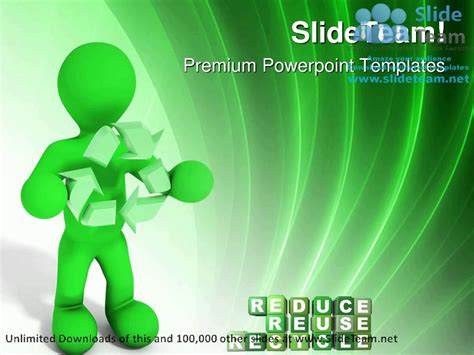 ppt themes on environment reduce reuse recycle environment powerpoint templates