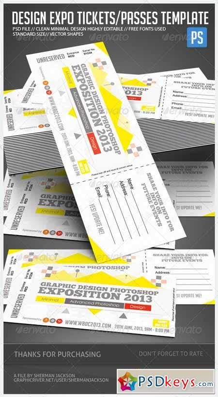 design event tickets photoshop design expo passes templates v1 4898731 187 free download