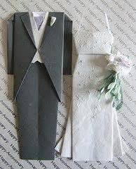 And Groom Origami - how to make wedding theme origami make an origami wedding