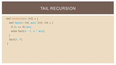 scala pattern matching tail recursion scala introduction