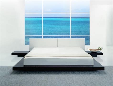 modern low profile bed opal low profile platform bed contemporary bedroom