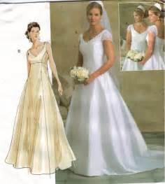 wedding dress patterns vogue pattern 2788 wedding gown bridesmaid empire waist button back size 6 8 10 sewing