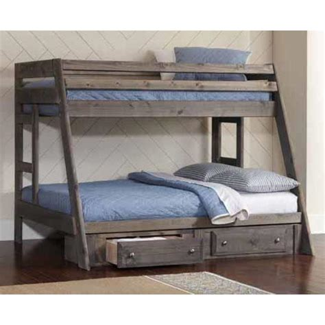 Coaster Wrangle Hill Youth Twin Over Full Bunk Bed In Gun Coaster Bunk Beds