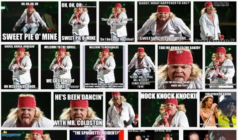 Axel Rose Meme - axl rose wants google to remove fat axl meme stereogum