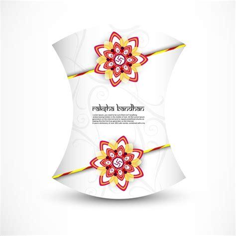raksha bandhan card template beautiful card raksha bandhan festival background vector