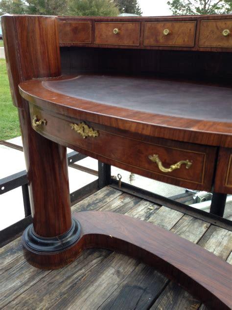 Re Antique Half Circle Reception Style Wood Desk The Antique Reception Desk