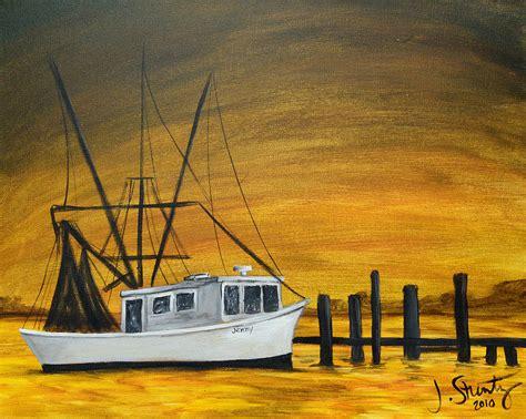 shrimp boat art shrimp boat by jessica stuntz