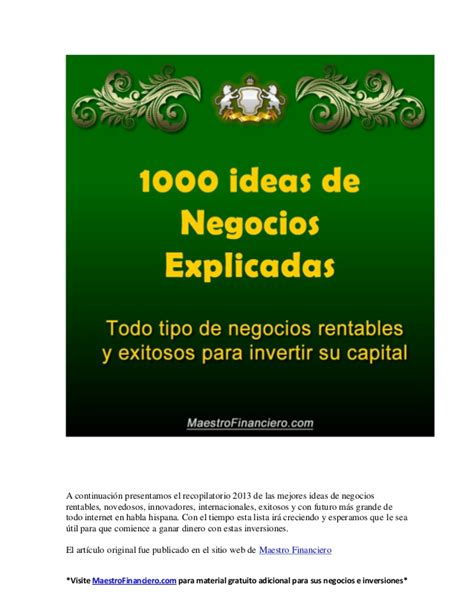 1000 images about ideas on 1000 ideas de negocios explicadas