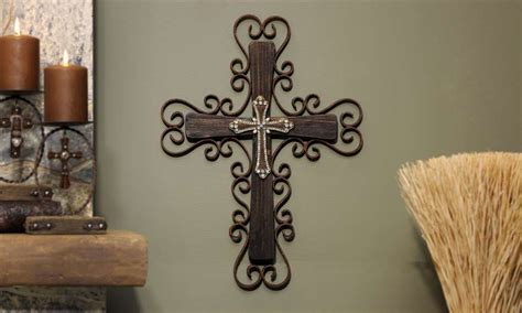 decorative wooden crosses metal painted wooden wall