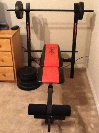 competitor weight bench with 80 pound weight set competitor weight bench espotted
