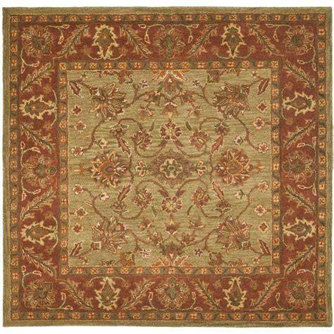6 Square Area Rug Safavieh Dhurries Green Rust 6 Ft X 6 Ft Square Area Rug Dhu559c 6sq The Home Depot