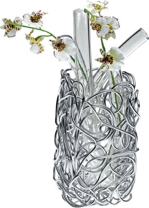 vasi alessi alessi vaso per fiori a filo rotondo afc13 in alluminio