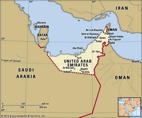 uae political map united arab emirates geography history britannica
