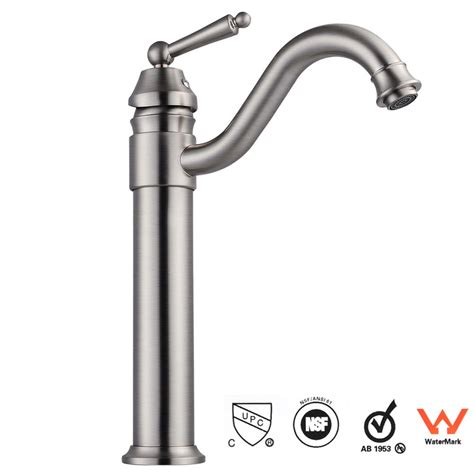 10 Vessel Sink Faucet by 14 Quot Bathroom Vessel Sink Brushed Nickel Faucet 1