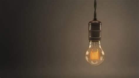vintage hanging light bulb by scott norris