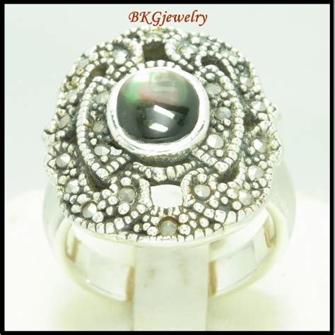 silver electroforming jewelry marcasite ring 925 sterling silver electroforming jewelry