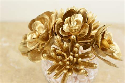 6 metallic gold succulents floral picks 6 5 quot