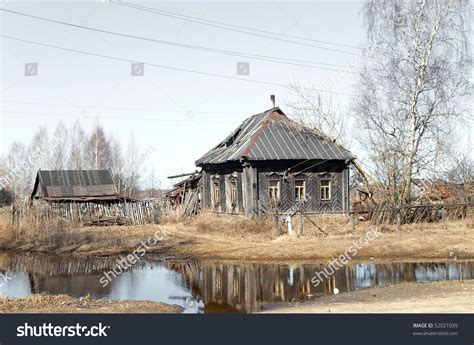 old wooden house in russian village stock photo colourbox the old wooden house in russian village stock photo