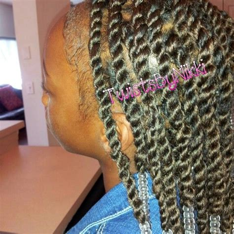 safest method for box braids twists beads using my rubber band method fb