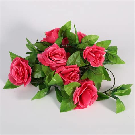 artificial flowers fake leaf craft wedding party garden