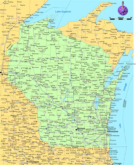 usa map states wisconsin wisconsin on the map afputra