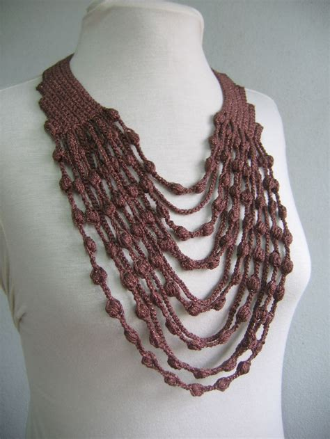 collar pattern pinterest maxi collar crochet necklace free diagram pattern