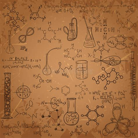 pattern lab less old chemistry laboratory pattern set stock vector image