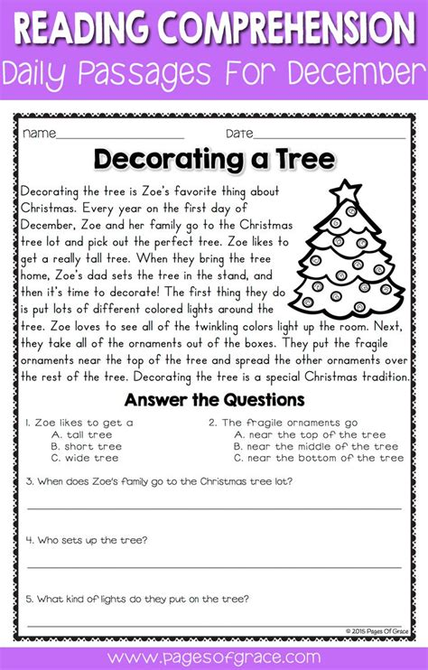 reading comprehension test advanced best 25 christmas worksheets ideas on pinterest