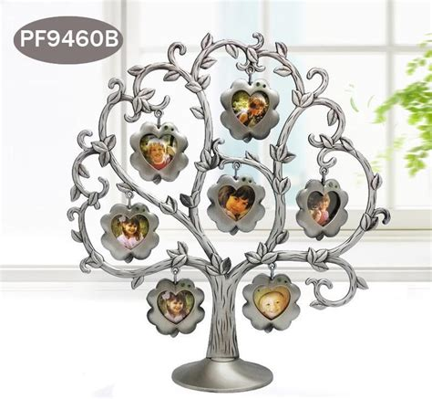 wholesale gifts and home decor fashion family tree green rhinestone photo frame baby