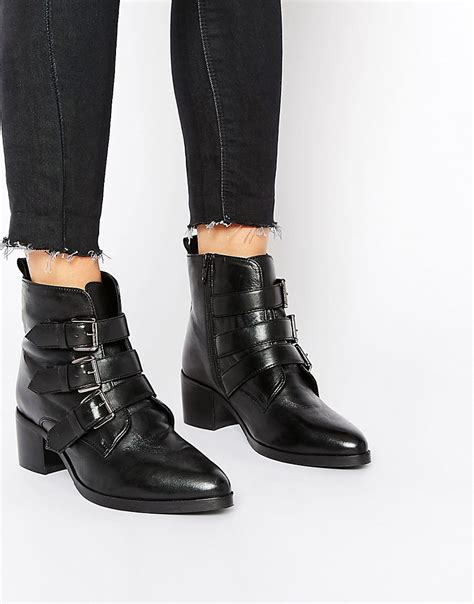 asos asos roundabout wide fit leather ankle boots at asos