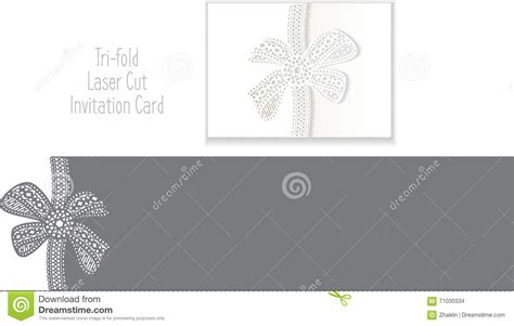 Credit Card Envelope Template Tri Fold Laser Cut Envelope Template Invitation Card Stock Illustration Image 71030334