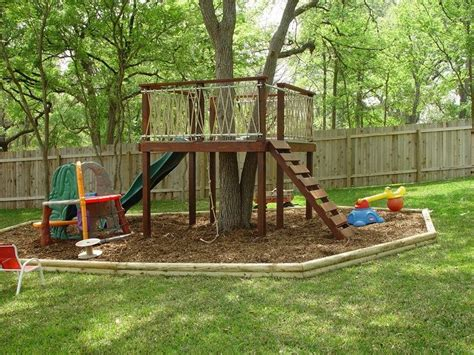 backyard treehouse for kids tree fort tree fort after kiddos small patio ideas