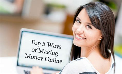 Making Money Online 2014 - top 5 ways of making money online dot com women